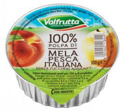 POLPA FRUTTA MELA/PESCA 100GR