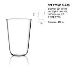 SET 2PZ BICCH TONIC GLASS...