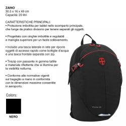 ZAINO 20LT ZAINO 30,5x16x49CM
