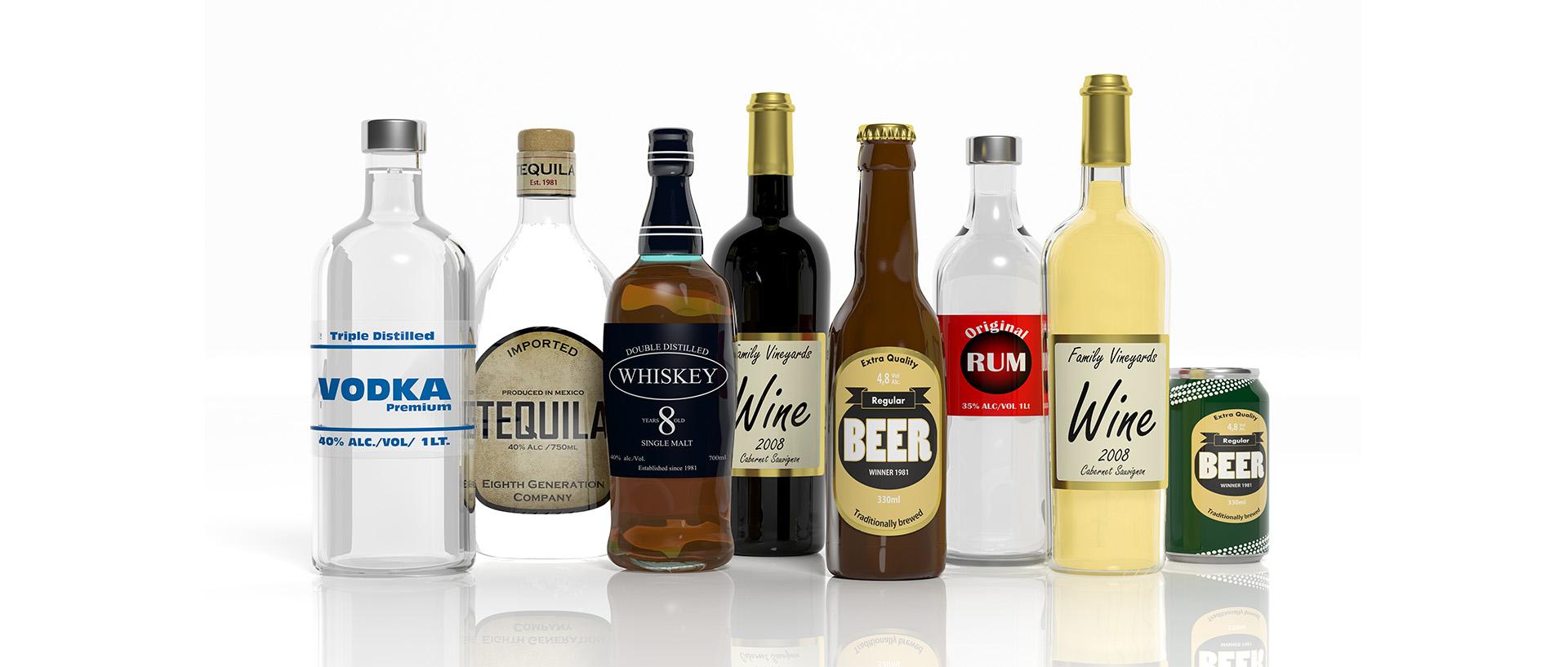 Birra, vini, liquori e grappe